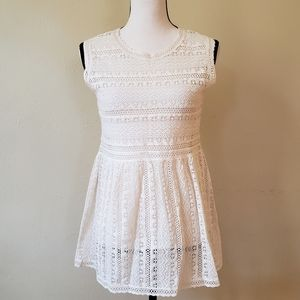 COMME TOI Crochet Lace Sheer Hippie Dress